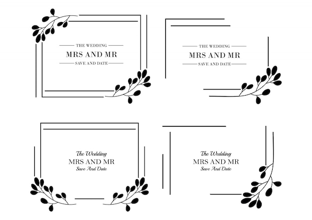 Floral wedding  templates collection