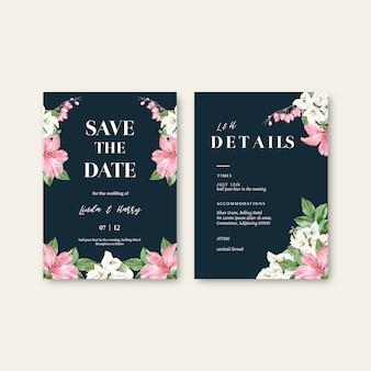 꽃 잡초 카드 세트