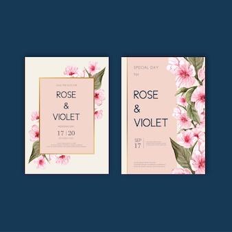 Floral weeding card set
