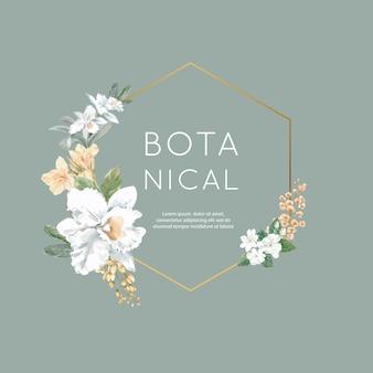 Floral weeding card