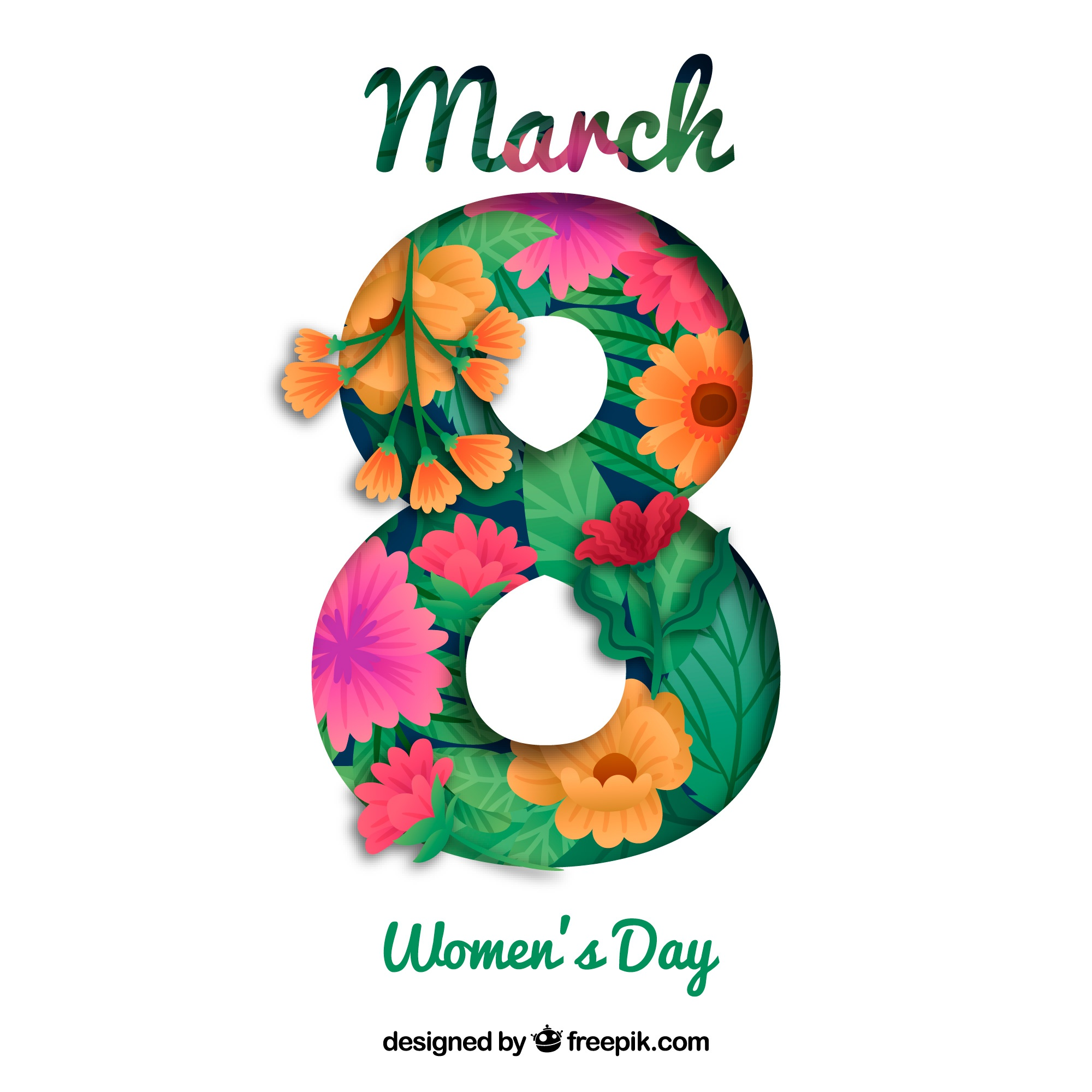 Floral womans day background