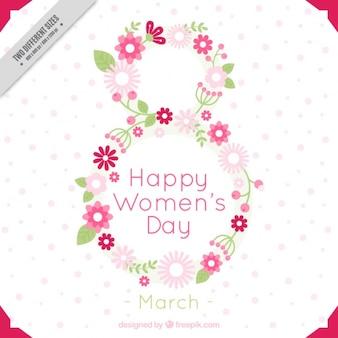 花の女性の日の背景
