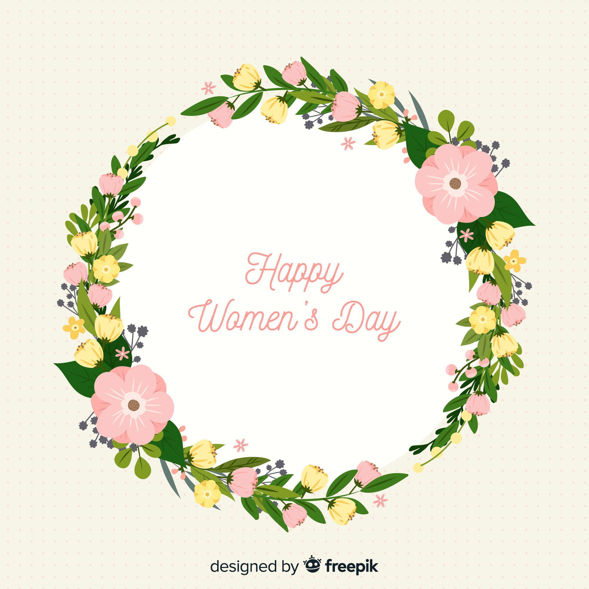 Floral women's day background