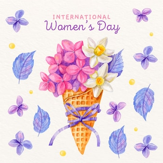Floral women's day concept
