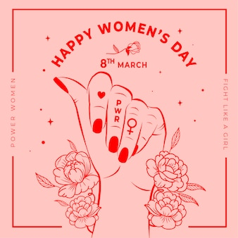 Floral women's day wallpaper