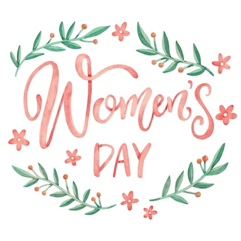 Floral women's day in watercolor