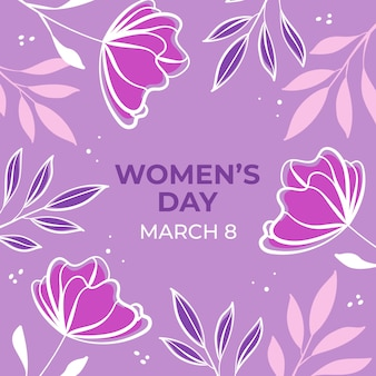 Floral women's day with blossoms