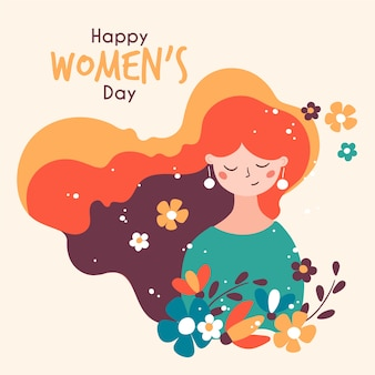 Floral women's day with greeting