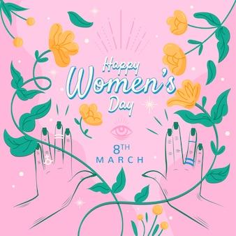 花の女性の日