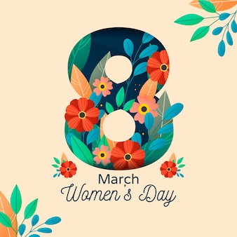Floral womens day concept