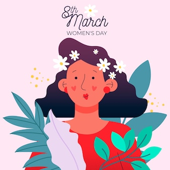 Floral womens day event theme