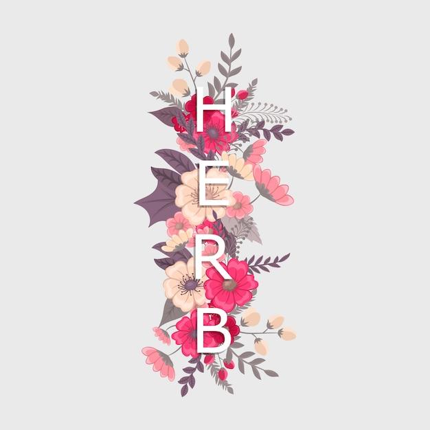 Floral word herb
