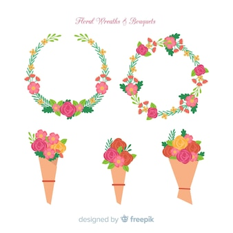 Floral wreath and bouquet collection