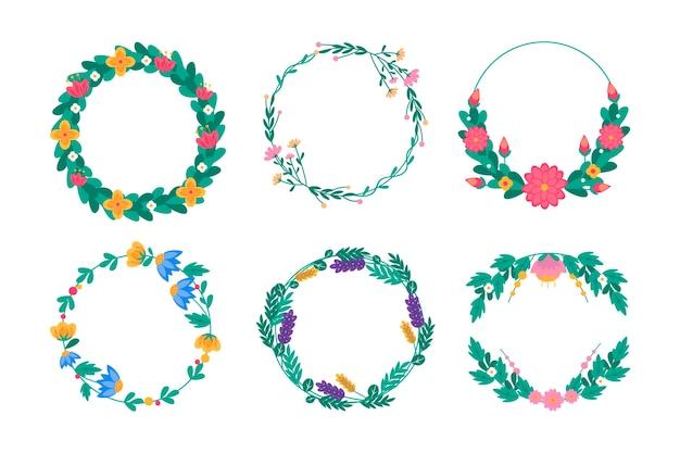 Коллекция цветочных венков