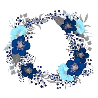 Floral wreath drawing