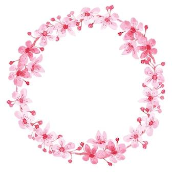 꽃 화환 프레임