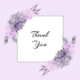 水彩紫の花の花の花輪