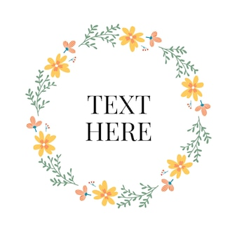 Floral wreath template