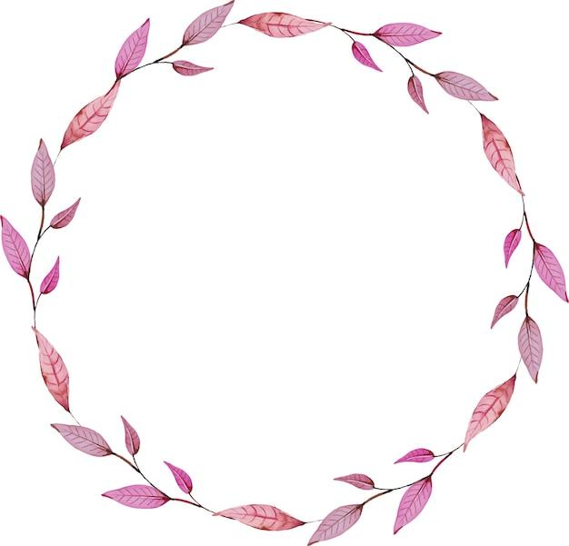 Floral wreath watercolor circle