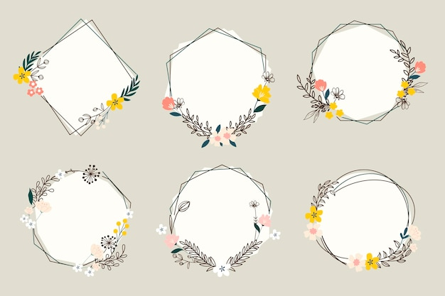 Floral wreaths collection