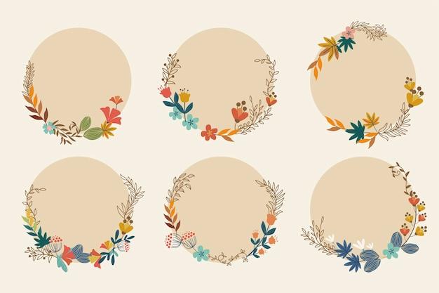 꽃 화환 컬렉션