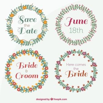 Corone floreali per il giorno delle nozze