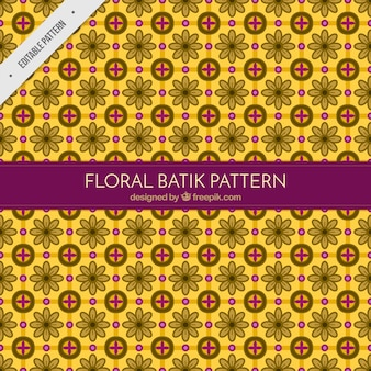 Floral yellow batik pattern