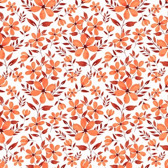 Florals watercolor repeat pattern