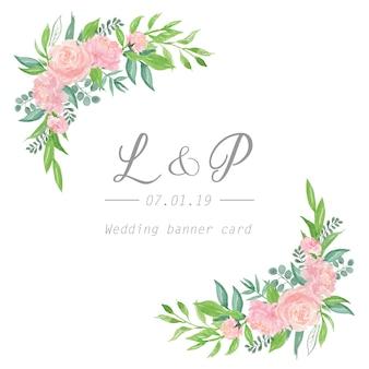 Florals wedding invitation card