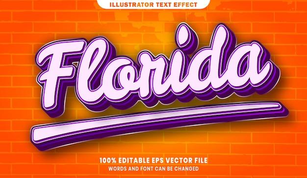 フロリダの編集可能なテキストスタイル効果