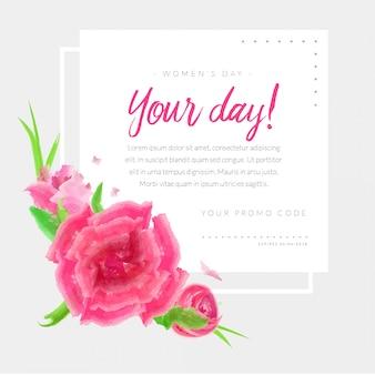 女性の日プロモーションカードプロモーションコードflorish