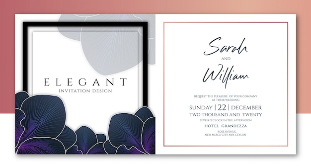 Florist invitation template