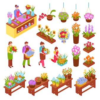Florist isometric set