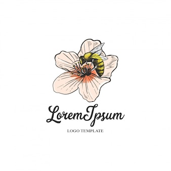 Florist logo with flowers