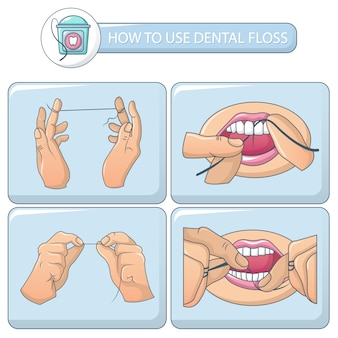 Floss dental banner concept set