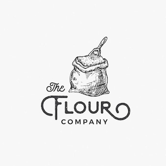 Flour company abstract  sign, symbol or logo template.