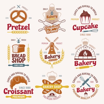 Flour products retro style emblems