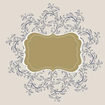 Flourish calligraphy vintage frame