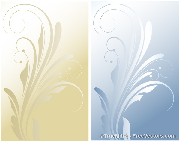 Flourish elements backgrounds vector set
