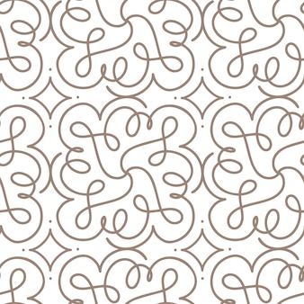Flourish seamless pattern with gray swirl ornament on white art deco style. background for invitation