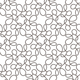 Flourish seamless pattern with gray swirls