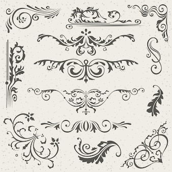 Flourish victorian calligraphic borders