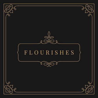 Flourishes vintage ornament frame illustration