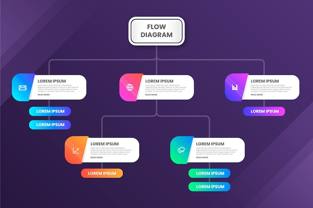 Flow diagram - infographic concept