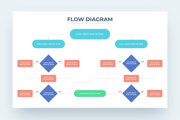 Flow diagram infographic design