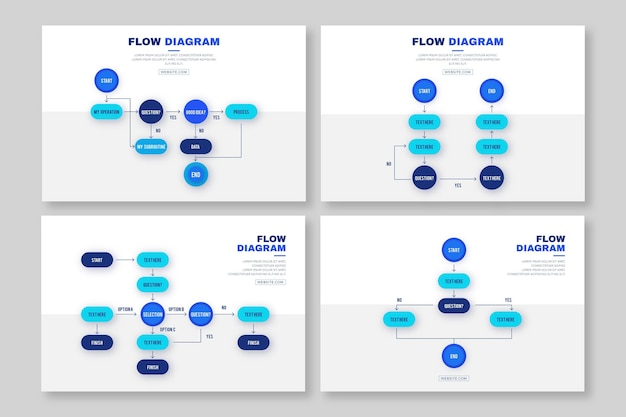Flow diagram infographic