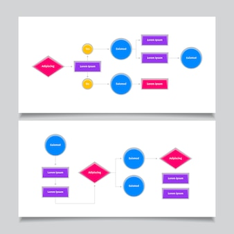 Flow diagram infographic