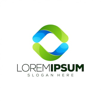 Flow logo template