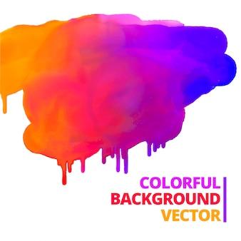 Flow of paint colors ink splash design