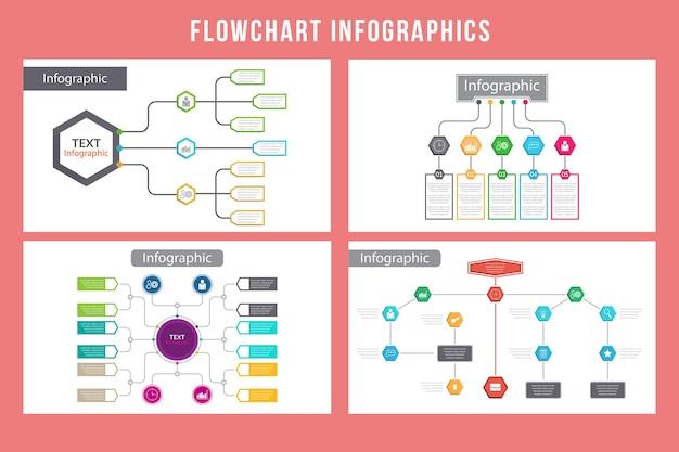 Блок-схема инфографики дизайн